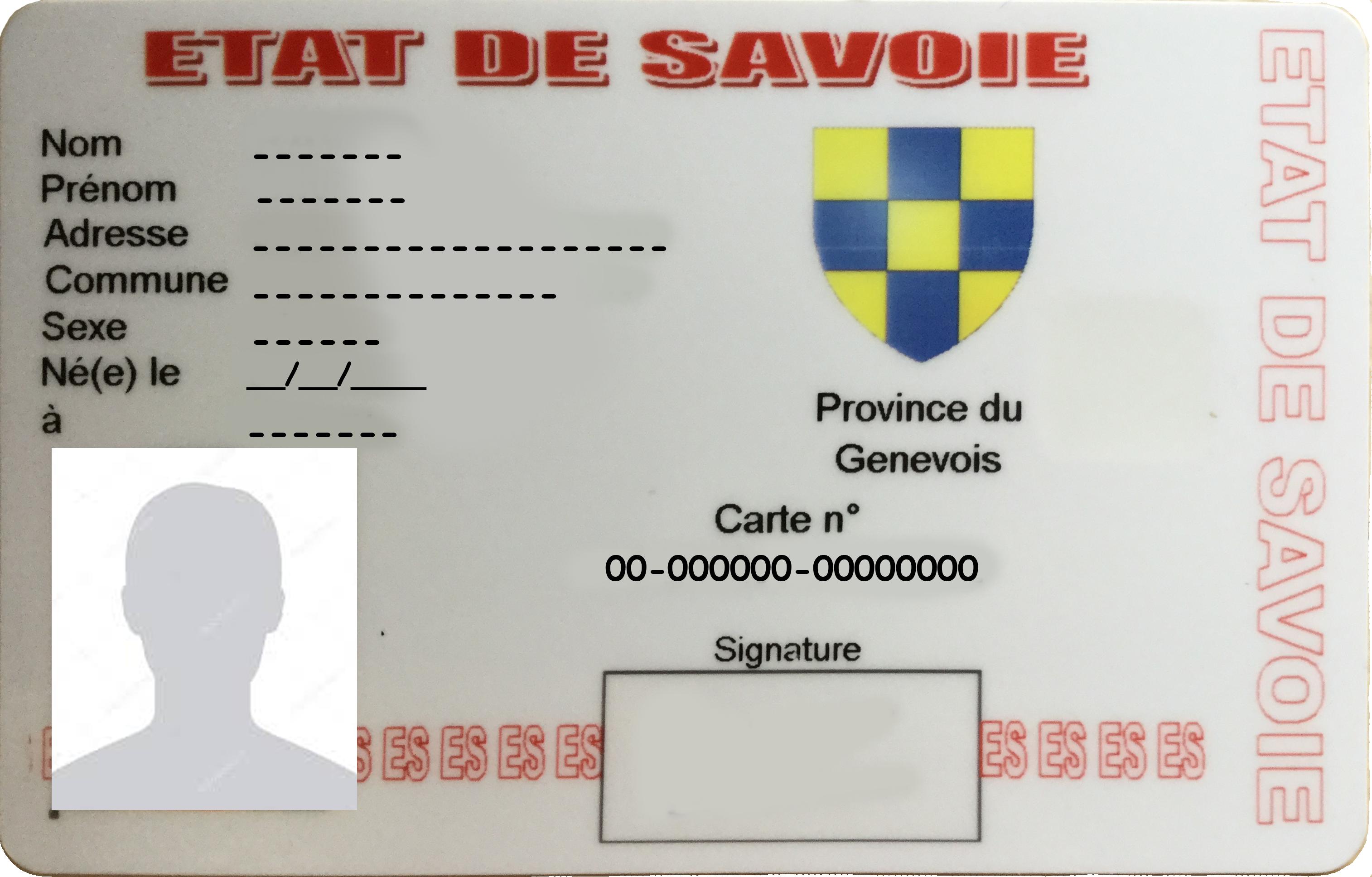 Carte d'identité recto